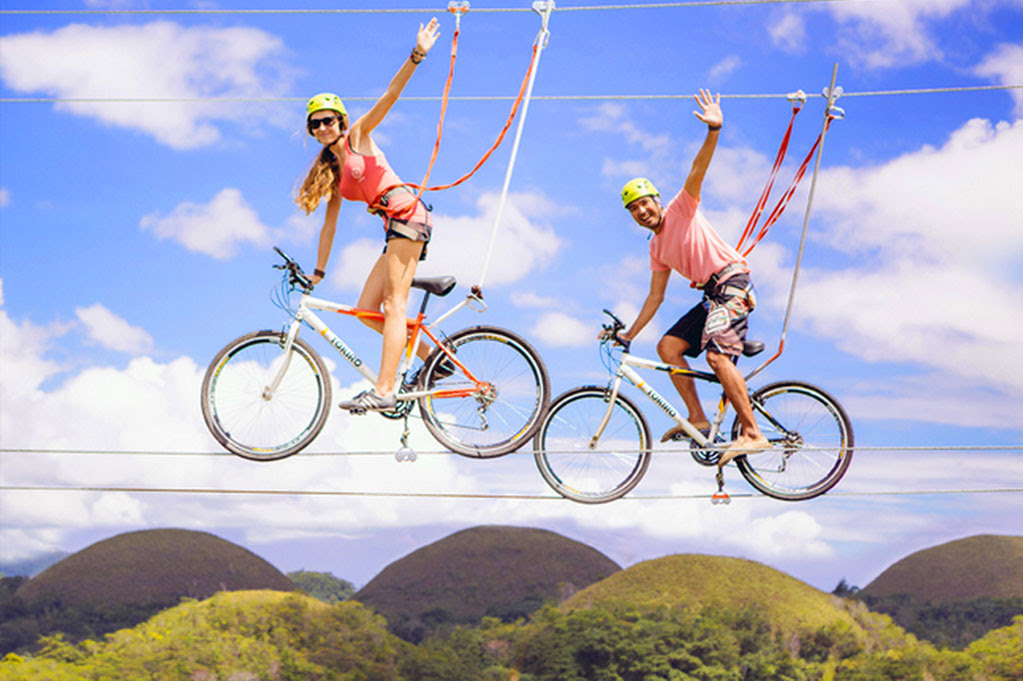 Bike Zipping at Chocolate Hills Adventure Park, Bohol